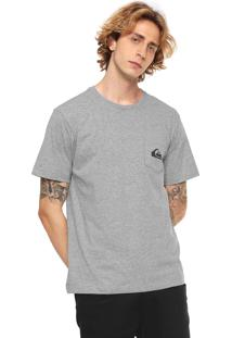Camiseta Quiksilver Basic Pocket Cinza