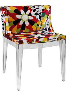 Cadeira Senhorita- Incolor & Vermelha- 73X50X42Cm