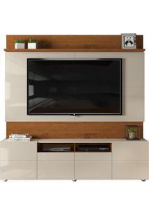 Estante Home Theater Para Tv Até 65 Pol. 4 Portas Apolo Telha/Creme -