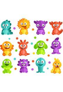 Adesivo De Parede Infantil Monstrinhos Felizes - Multicolorido - Dafiti