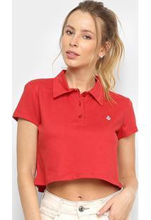 Camiseta Cropped Volcom Heather Stone Feminina - Feminino