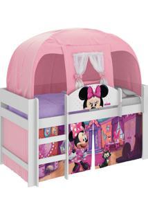Cama Minnie Disney Play C/ Barraca Branco Pura Magia