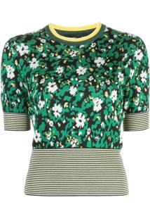 Proenza Schouler Blusa De Tricôfloral - Verde