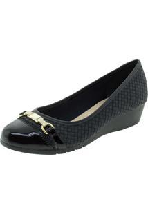 Sapato Feminino Anabela Moleca - 5156452 Verniz/Preto