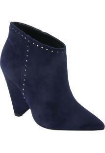 Ankle Boot Leticia Com Recortes - Azul Marinho - Salle Lis Blanc