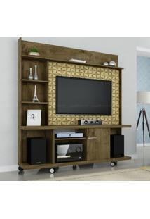 Estante Home Theater Para Tv Até 47 Polegadas 1 Porta Taurus Madeira Rústica/Madeira 3D - Móveis Bechara
