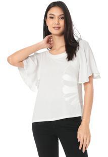 Camiseta Forum Bordada Off-White