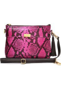 Bolsa De Couro Hendy Bag Cobra Pink