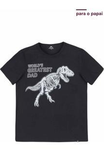 Camiseta Masculina Com Estampa Que Brilha No Escuro Tal Pai Tal Filho