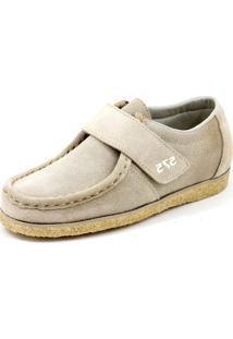 Sapato Cacareco Confortável 575 Camurça Bege
