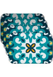 Jogo Americano Love Decor Mandala Blue Kit Com 4 Peças - Kanui