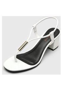 Sandália Dafiti Shoes Matelassê Branca