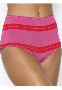 Calcinha Devon Hot Pant - Pink & Vermelharosa Chá