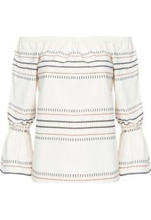 Blusa Feminina Bordado - Off White