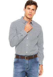 Camisa Forum Estampada Branca/Roxo