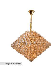 Lustre Diamond- Cristal & Dourado- 56Xø78Cm- Bivhevvy