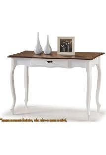 Aparador Elegance Branco Com Imbuia Pes Luiz Xv 1,15Mt (Larg) - 58850 - Sun House