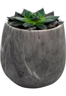 Vaso De Cerâmica Cinza Mármore Pequeno Urban Home