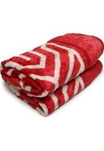 Cobertor Casal Corttex 180X220 Home Design Vermelho