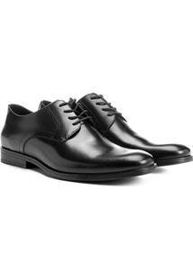 Sapato Social Couro Shoestock Bico Redondo - Masculino-Preto