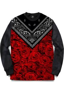 Blusa Bsc Rose Bandana Full Print - Masculino
