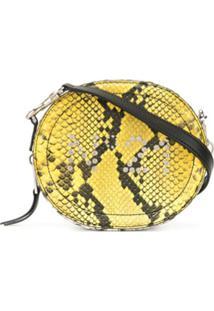 Nº21 Bolsa Transversal Color Block Com Efeito Pele De Cobra - Estampado
