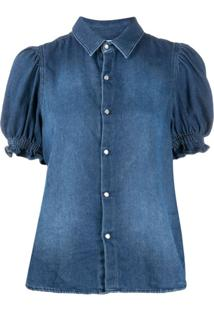 Ba&Sh Blusa Jeans Danee - Azul
