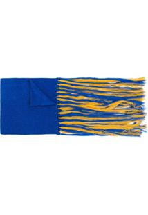 Missoni Echarpe Com Franjas - Azul