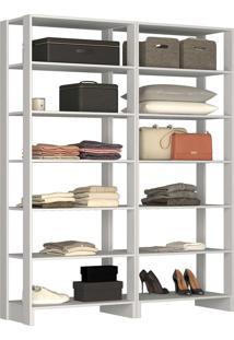 Guarda Roupa Closet 2 Peças 12 Prateleir