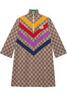 Gucci Vestido Com Estampa Gg Supreme - Neutro