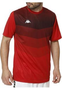 Camiseta Esportiva Masculina Kappa Vermelho