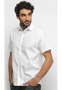 Camisa Manga Curta Forum Lisa Masculina - Masculino-Branco