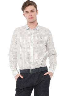 Camisa Lacoste Regular Estampada Off-White