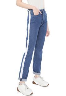 Calça Jeans Calvin Klein Jeans Reta High Azul