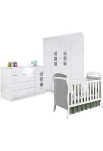 Dormitório Livia Phoenix Baby Com Berço Danny Branco Brilho