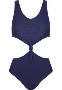 Body Rosa Chá Canel Canelado Sideral Beachwear Azul Feminino (Sideral, P)