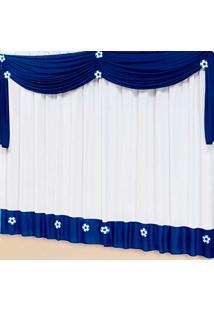 Cortina Casa Conforto Soccer 2M- Azul