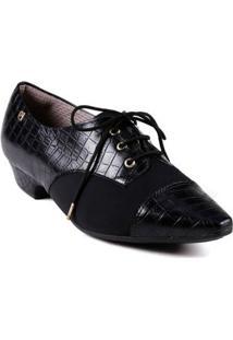 Sapato Oxford Feminino Piccadilly Preto