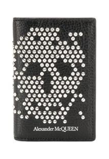 Alexander Mcqueen Carteira Com Caveira - Preto