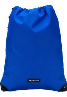 Balenciaga Bolsa Explorer Com Fechamento Por Cordão - Azul