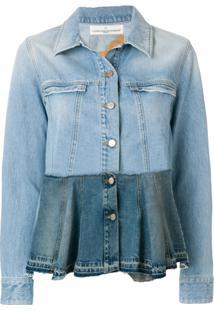 Golden Goose Deluxe Brand Jaqueta Jeans Estampada - Azul
