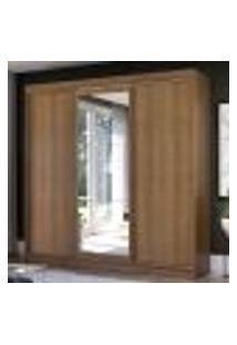 Guarda-Roupa Casal Madesa Istambul 3 Portas De Correr Com Espelho 3 Gavetas - Rustic
