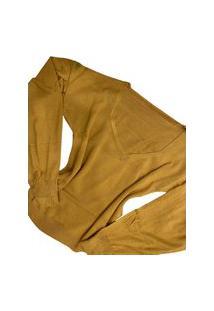 Blusa Eliza Multi Ponto Denim Amarelo