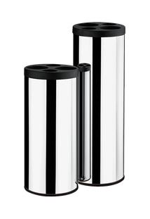 Coletor De Copos Preto - Decorline Lixeiras Ø 20 X 60 Cm Preto Brinox