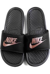 696acf82faf8a ... Chinelo Nike Benassi Jdi Slide Feminina - Feminino-Preto+Pink