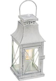 Abajur Aço Cinza Vidro Transparente 1 X 40W E27