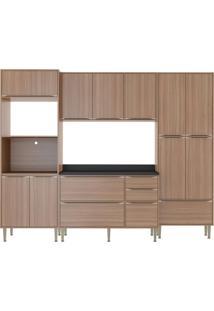 Cozinha Compacta Calábria 5 Peças 13 Portas Nogueira Multimoveis