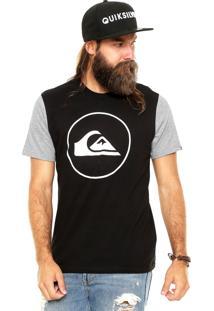 Camiseta Quiksilver Circle Preta