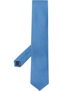Salvatore Ferragamo Gravata Com Estampa De Elefante - Azul