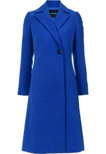 Tufi Duek Trench Coat Com Abotoamento - Azul